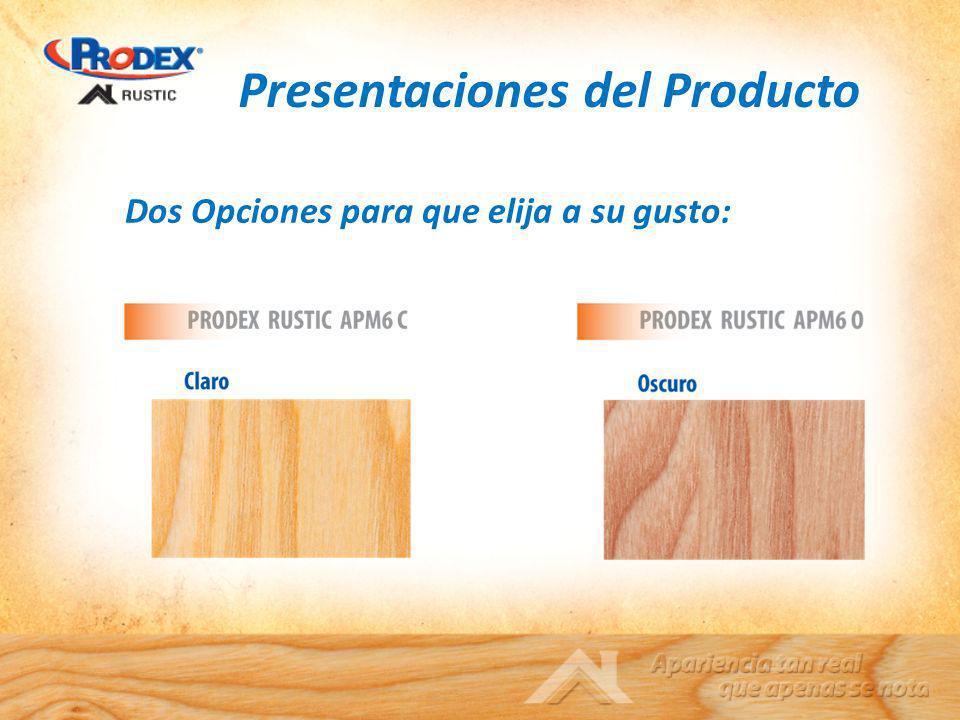 Presentaciones del Producto