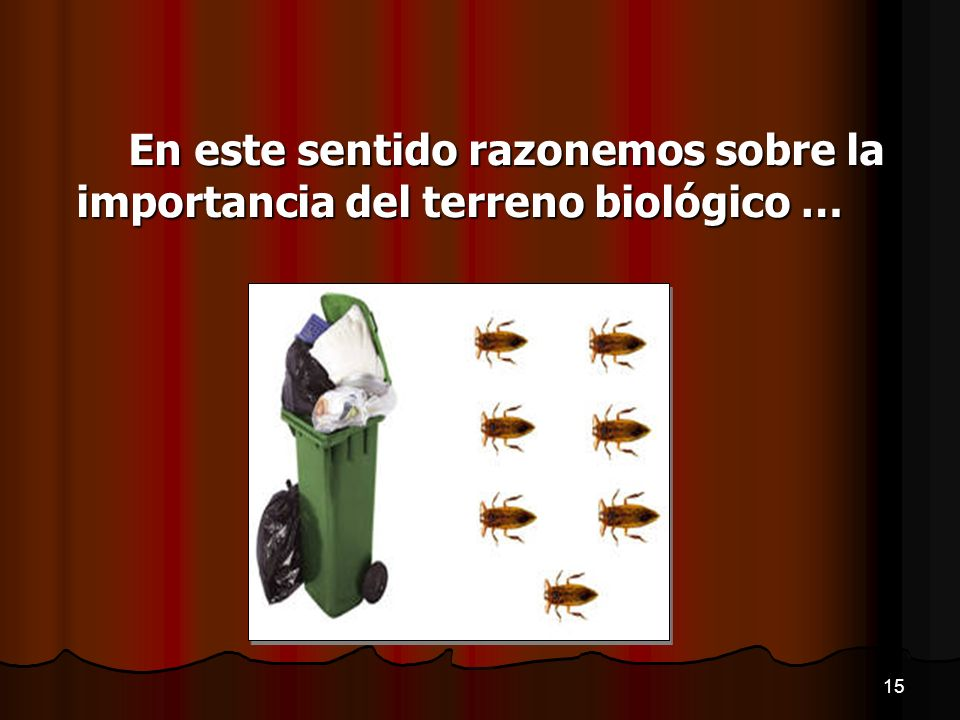 En este sentido razonemos sobre la importancia del terreno biológico …