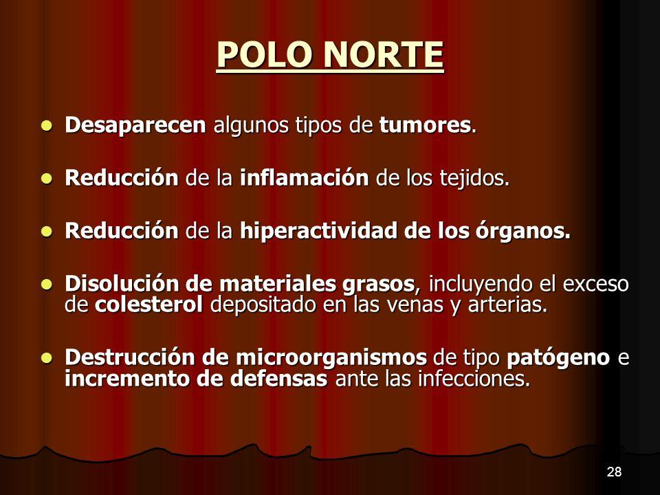 POLO NORTE Desaparecen algunos tipos de tumores.