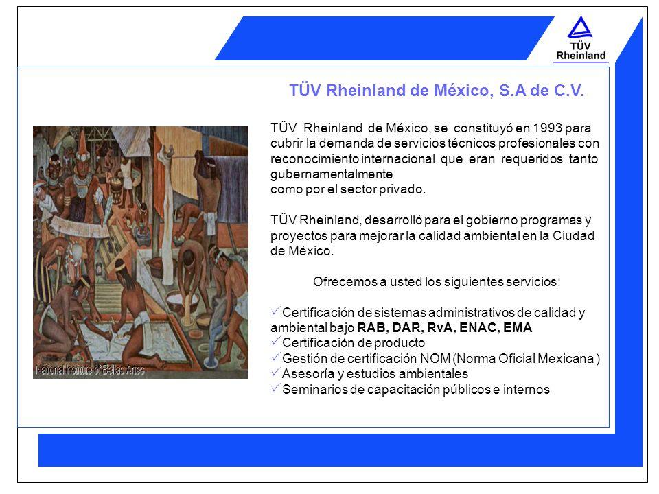 TÜV Rheinland de México, S.A de C.V.