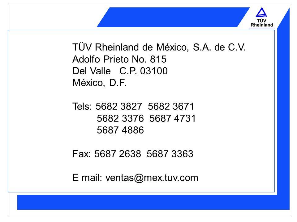 TÜV Rheinland de México, S.A. de C.V.