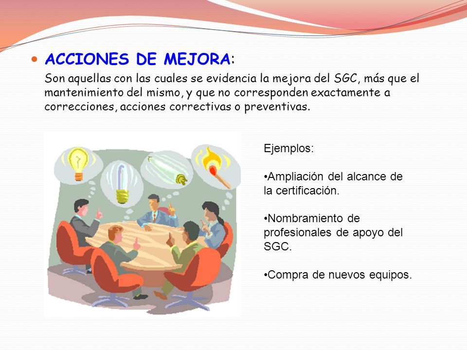 ACCIONES DE MEJORA: