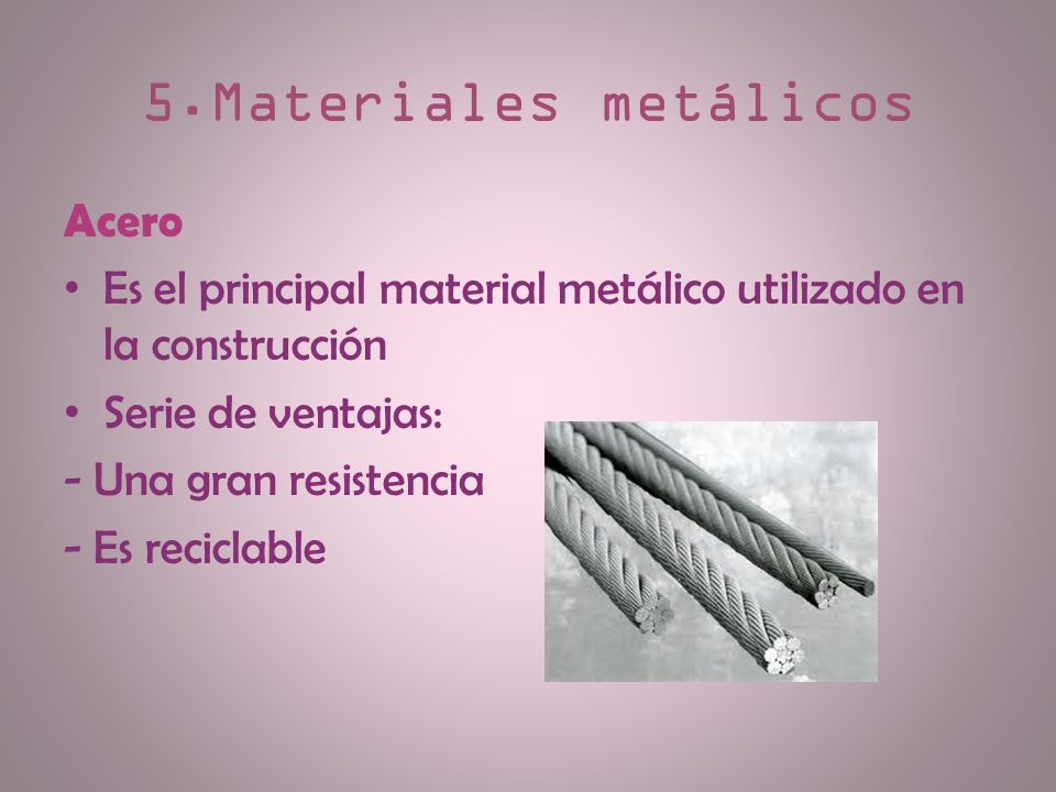 5.Materiales metálicos Acero