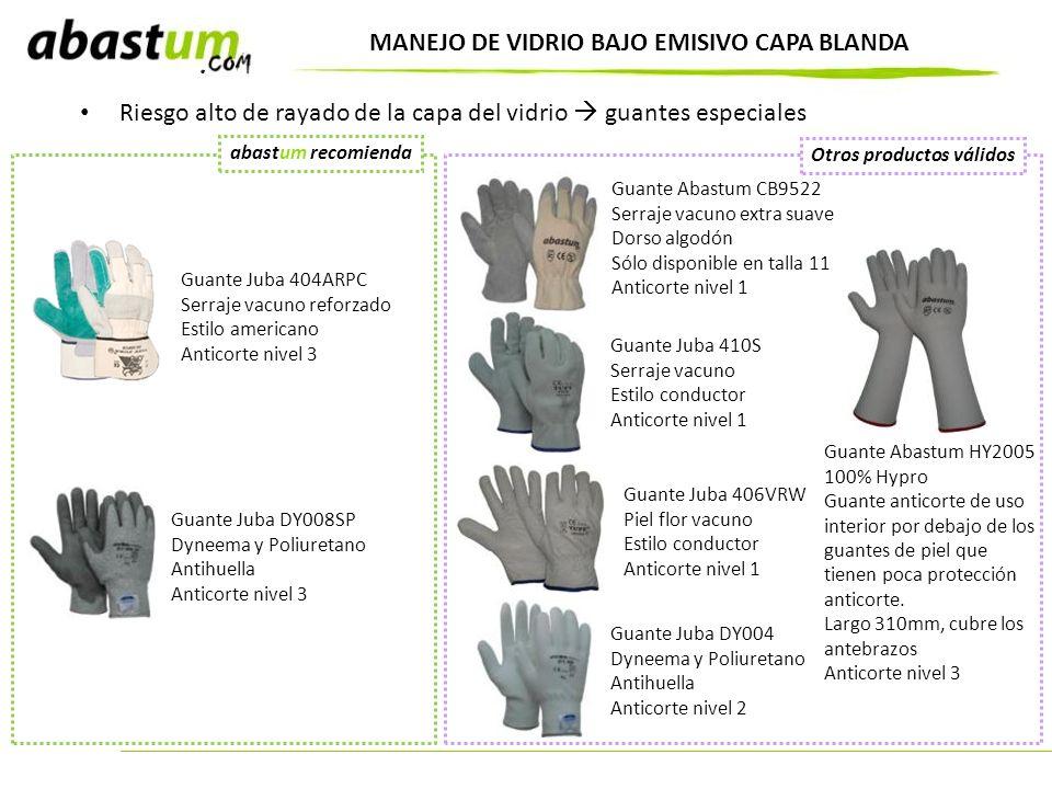 MANEJO DE VIDRIO BAJO EMISIVO CAPA BLANDA