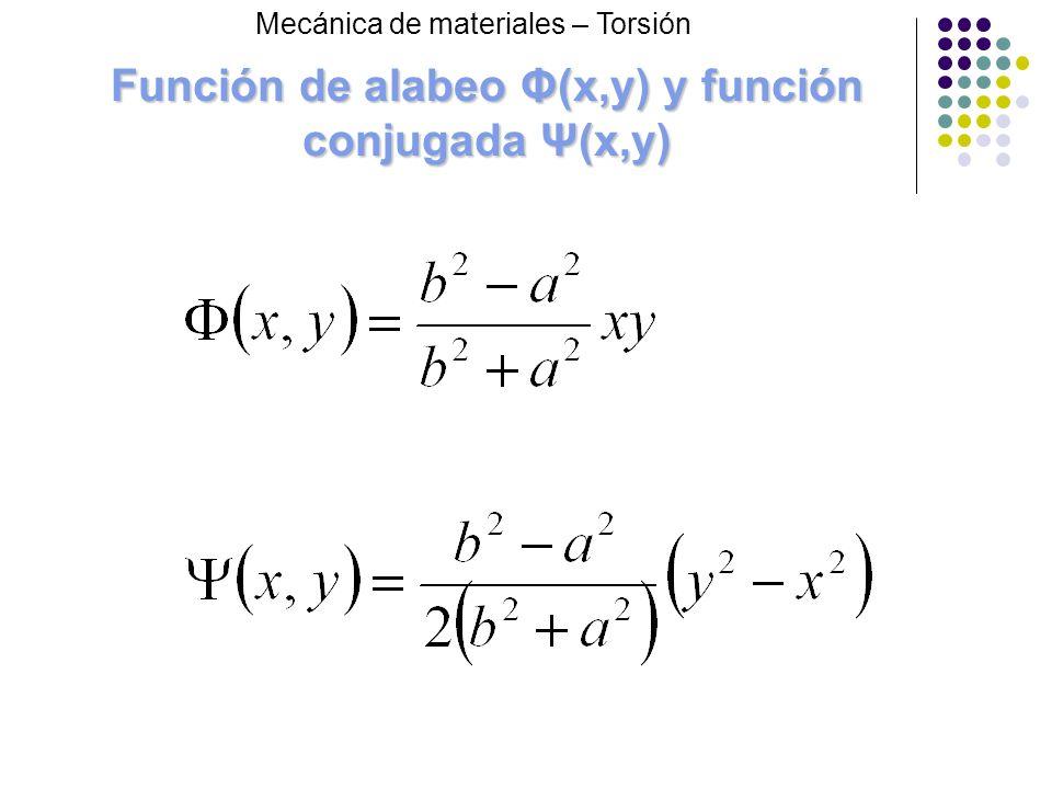 Función de alabeo Φ(x,y) y función conjugada Ψ(x,y)