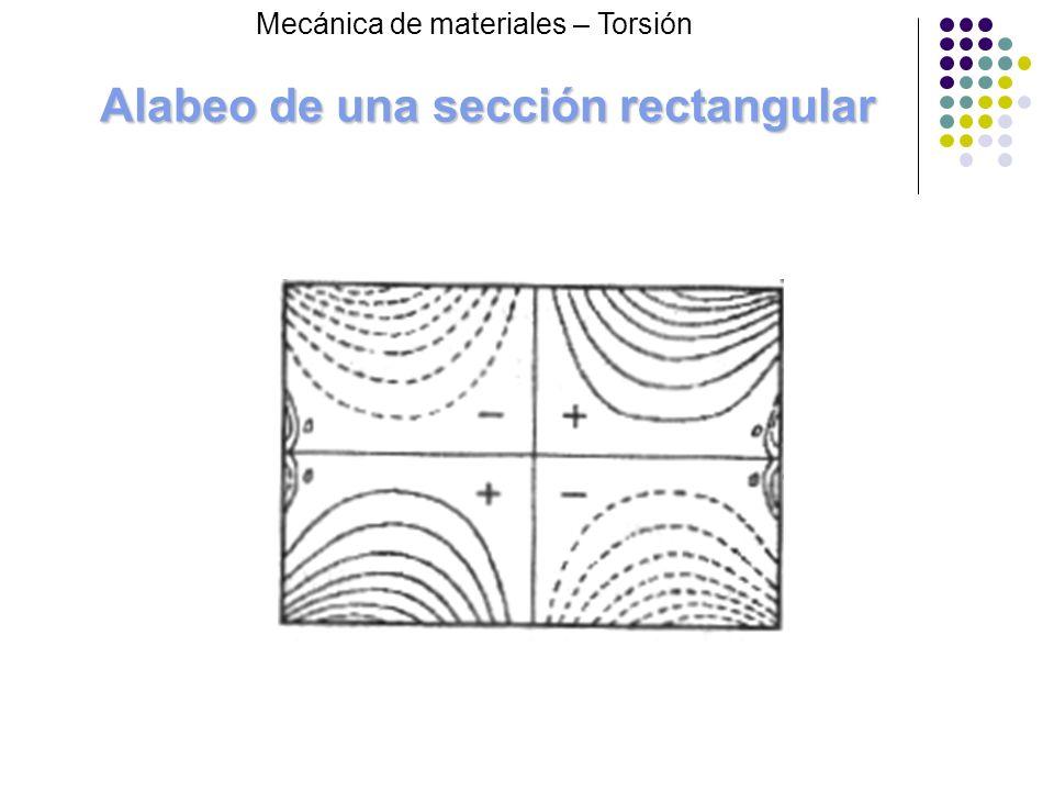 Alabeo de una sección rectangular