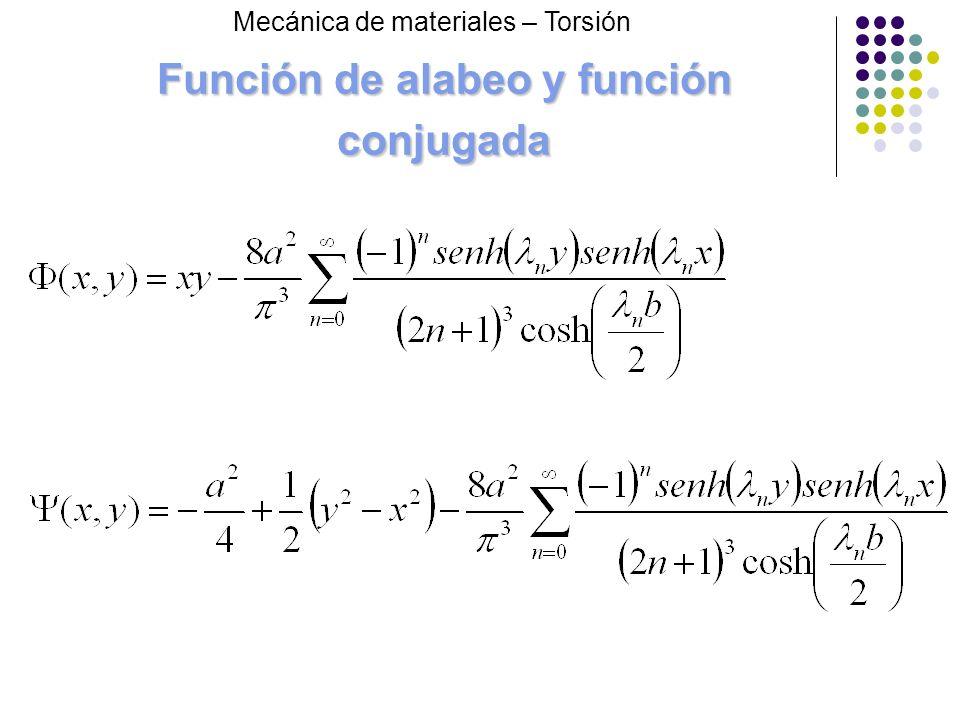 Función de alabeo y función conjugada