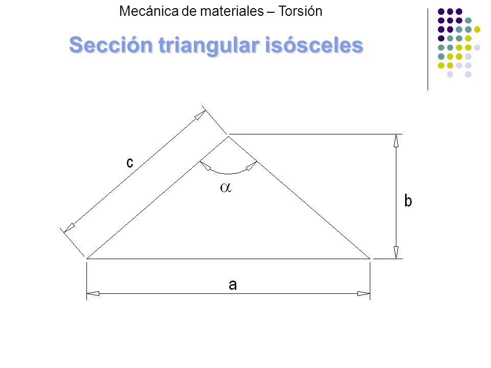 Sección triangular isósceles