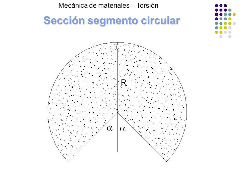 Sección segmento circular