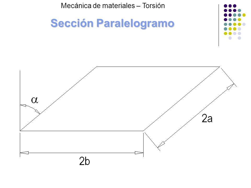 Sección Paralelogramo