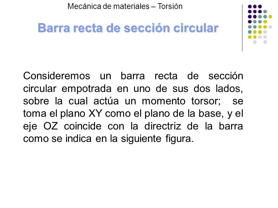 Barra recta de sección circular