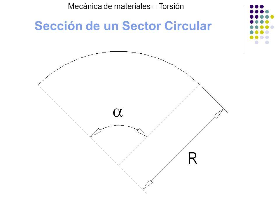 Sección de un Sector Circular