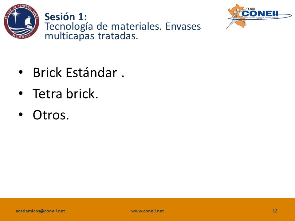 Sesión 1: Tecnología de materiales. Envases multicapas tratadas.
