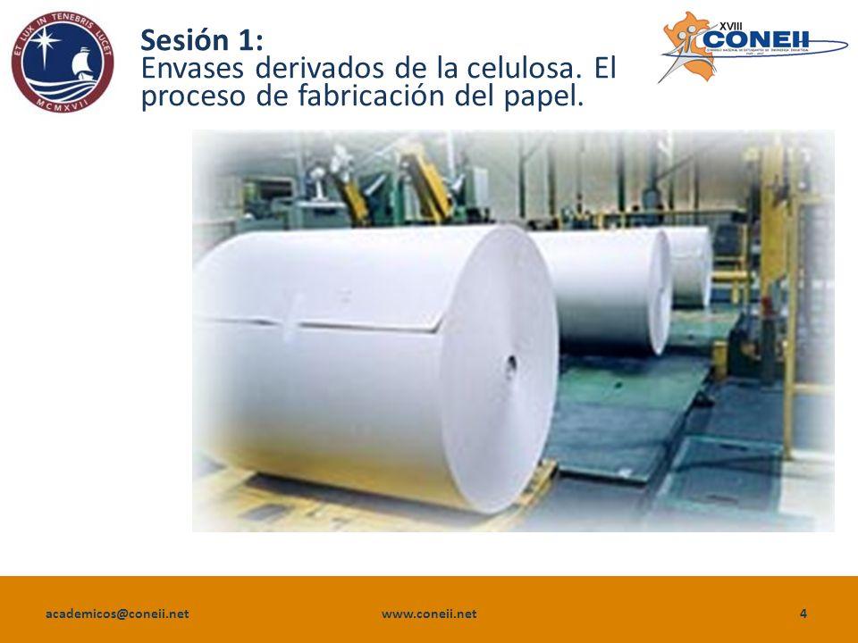 Envases derivados de la celulosa. El proceso de fabricación del papel.