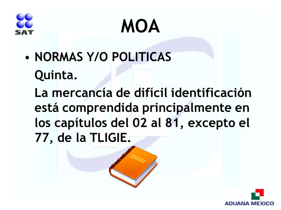 MOA NORMAS Y/O POLITICAS Quinta.