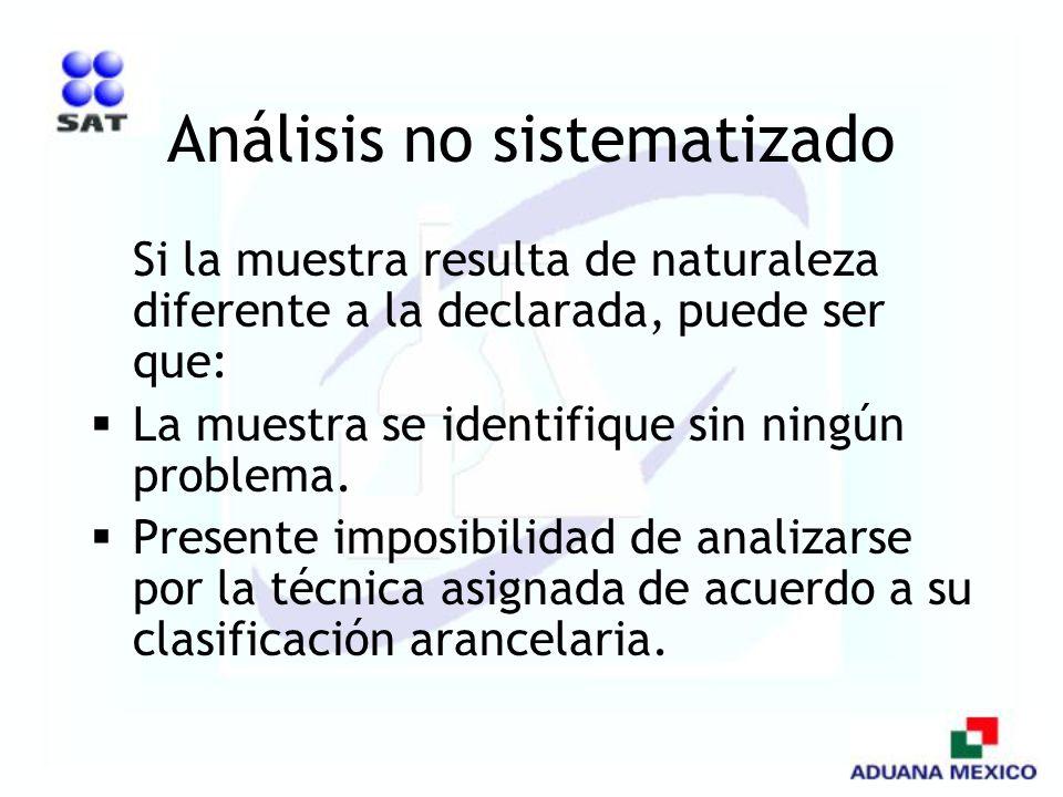 Análisis no sistematizado