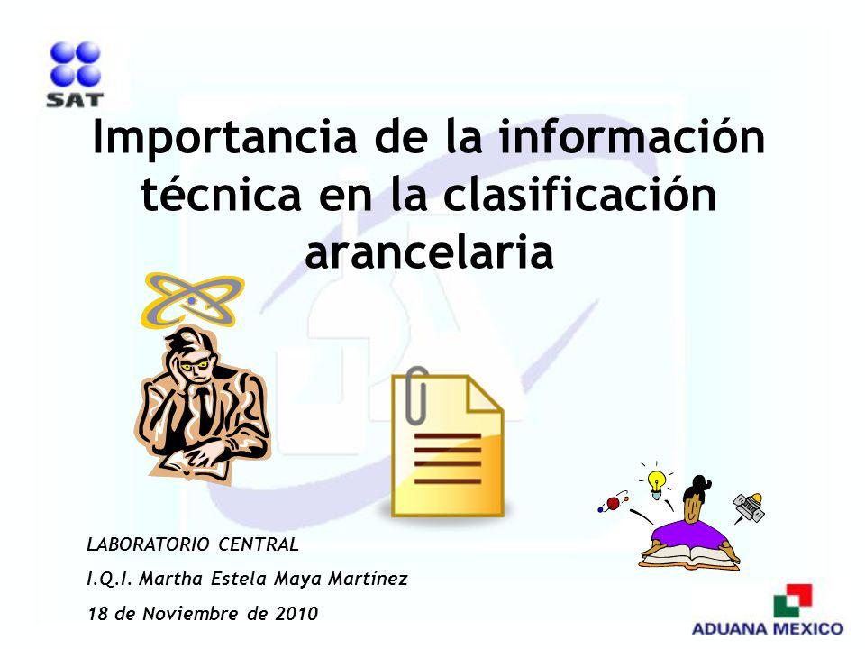 Importancia de la información técnica en la clasificación arancelaria