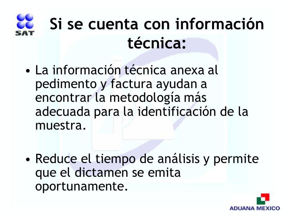 Si se cuenta con información técnica: