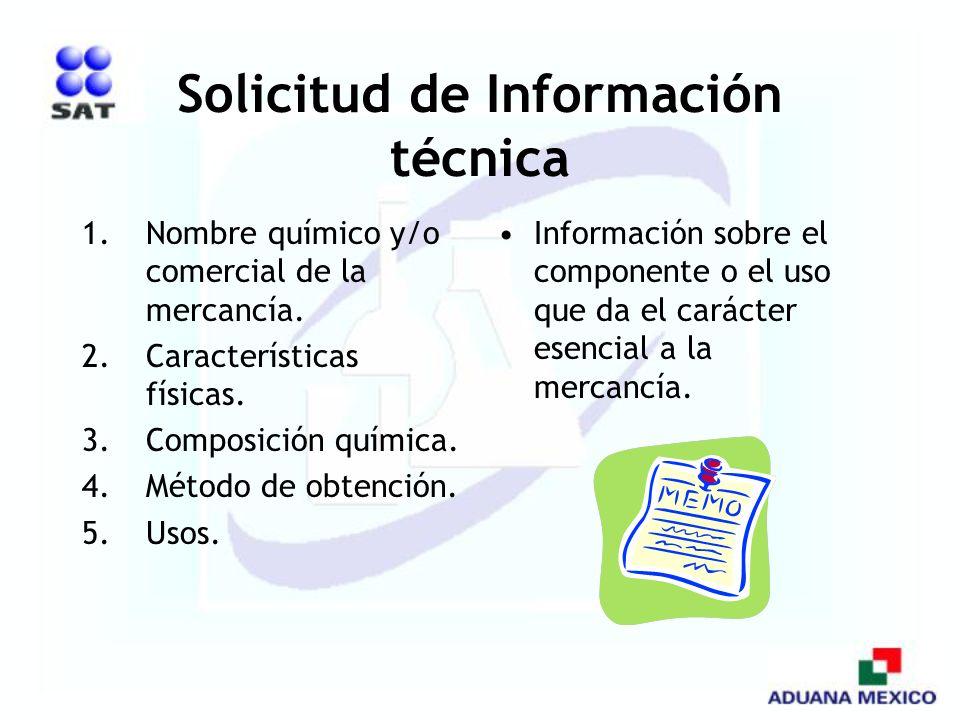 Solicitud de Información técnica