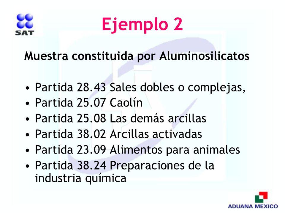 Ejemplo 2 Muestra constituida por Aluminosilicatos