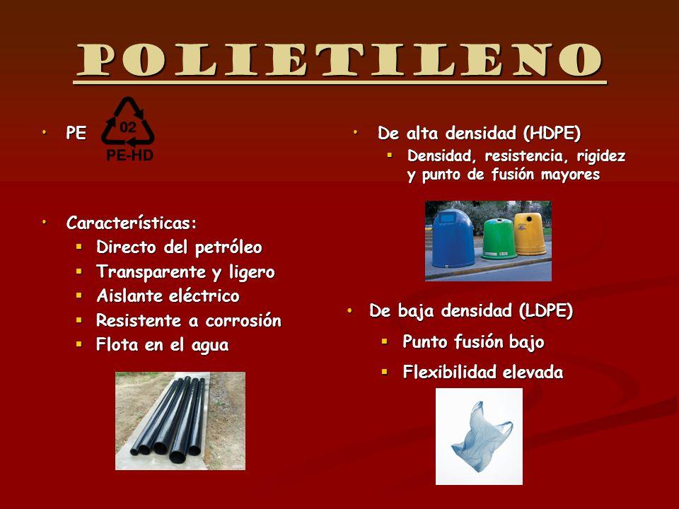 Polietileno PE Características: Directo del petróleo