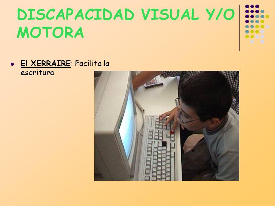 DISCAPACIDAD VISUAL Y/O MOTORA