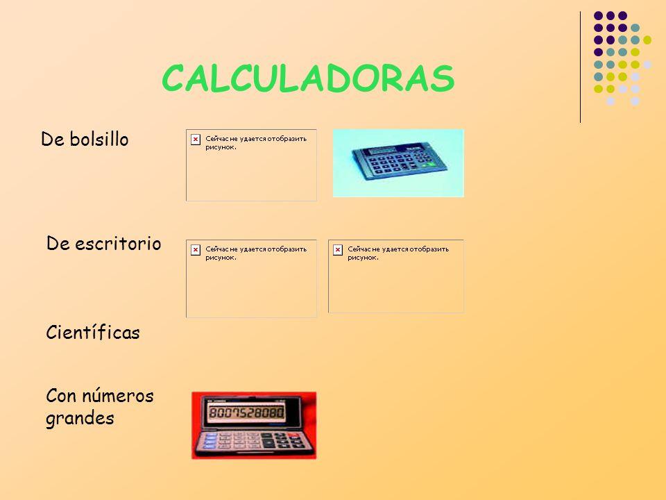 CALCULADORAS De bolsillo De escritorio Científicas Con números grandes