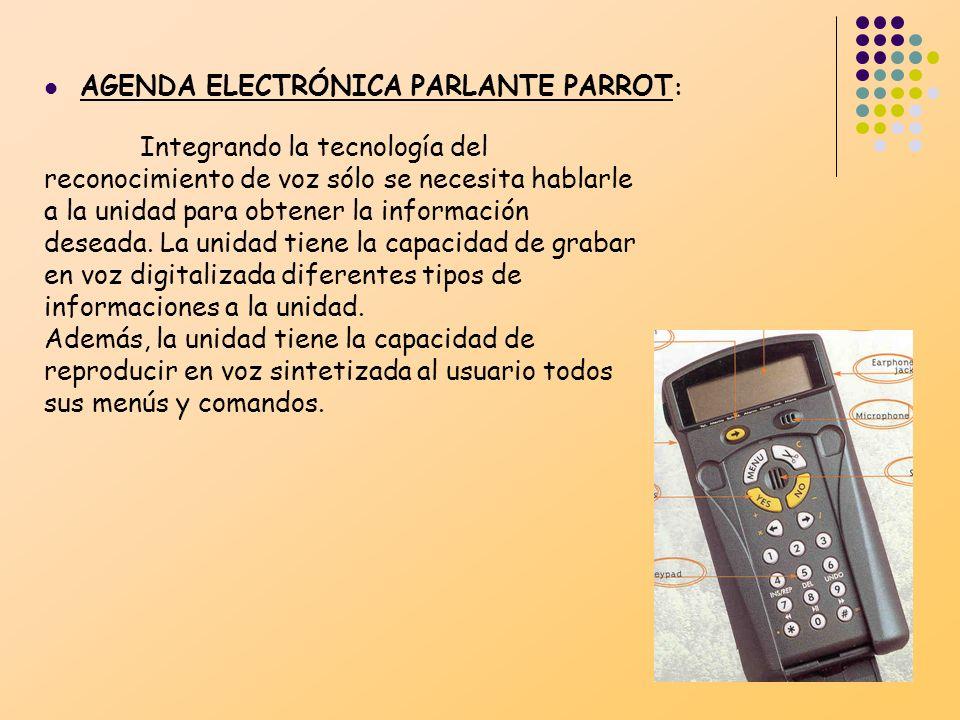 AGENDA ELECTRÓNICA PARLANTE PARROT:
