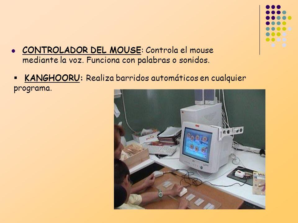 CONTROLADOR DEL MOUSE: Controla el mouse mediante la voz