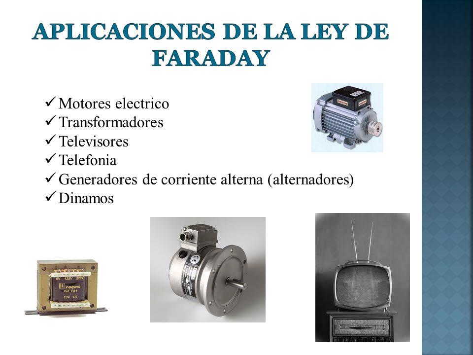 Aplicaciones de la Ley de Faraday