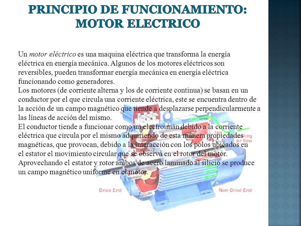 Principio de Funcionamiento: Motor Electrico