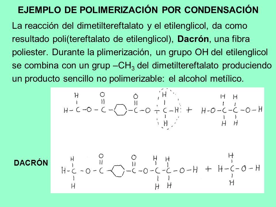EJEMPLO DE POLIMERIZACIÓN POR CONDENSACIÓN