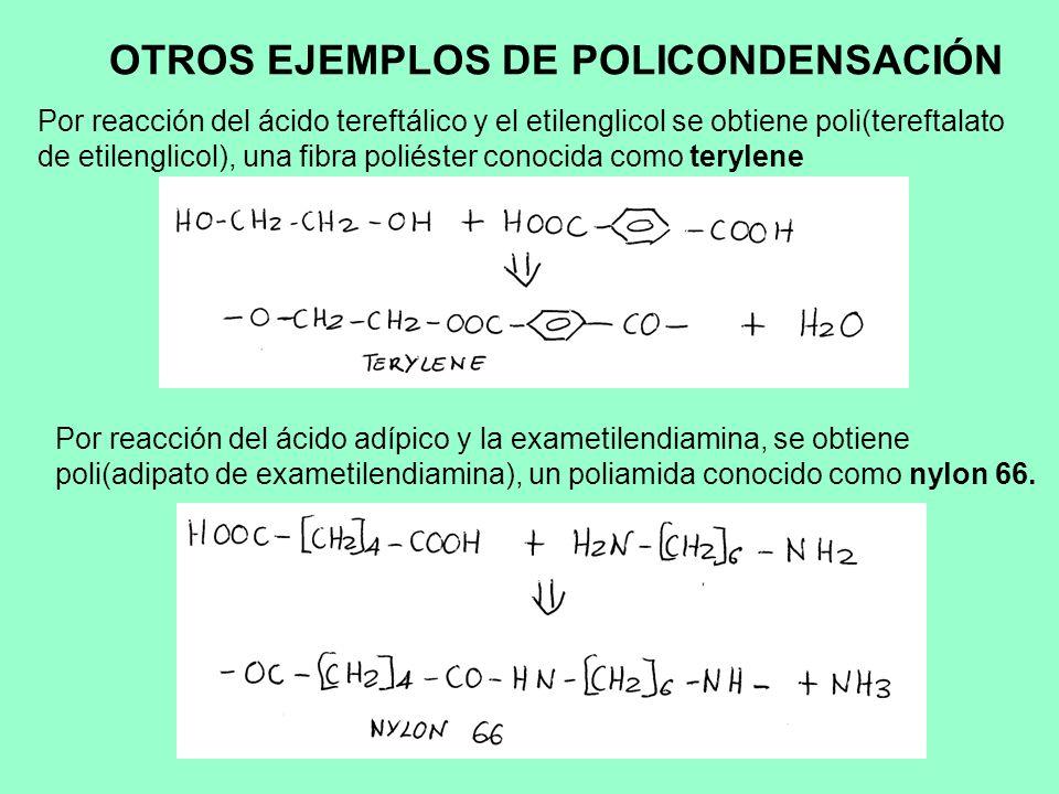 OTROS EJEMPLOS DE POLICONDENSACIÓN