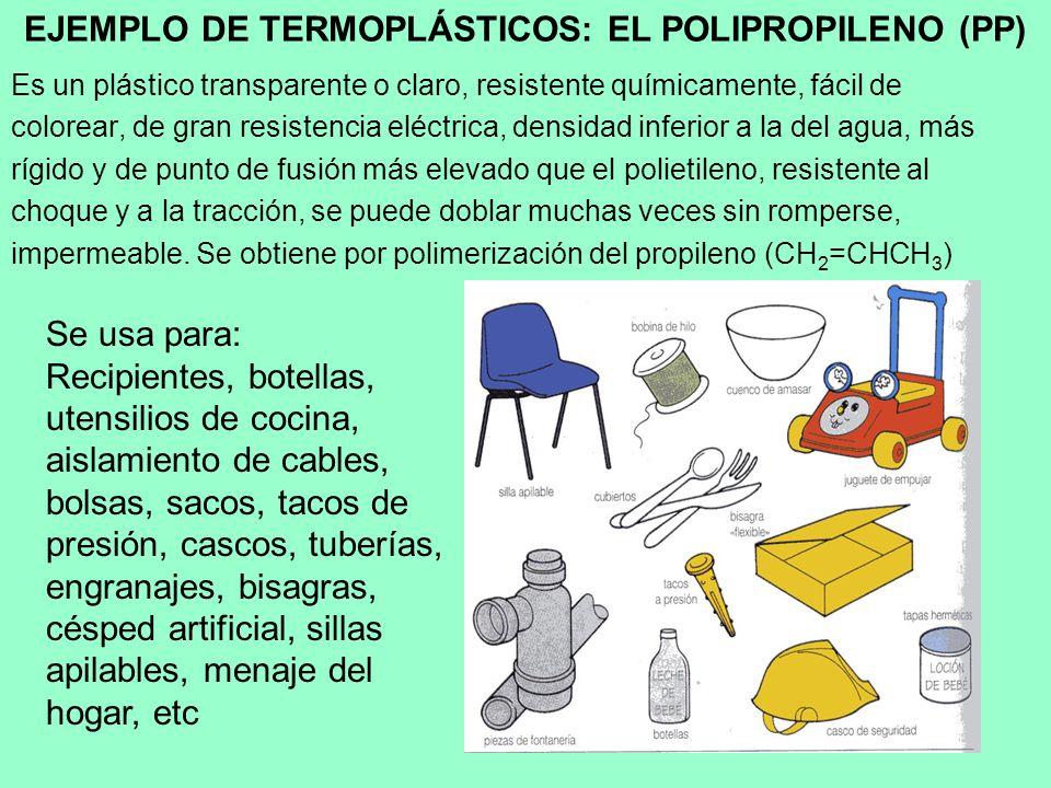 EJEMPLO DE TERMOPLÁSTICOS: EL POLIPROPILENO (PP)