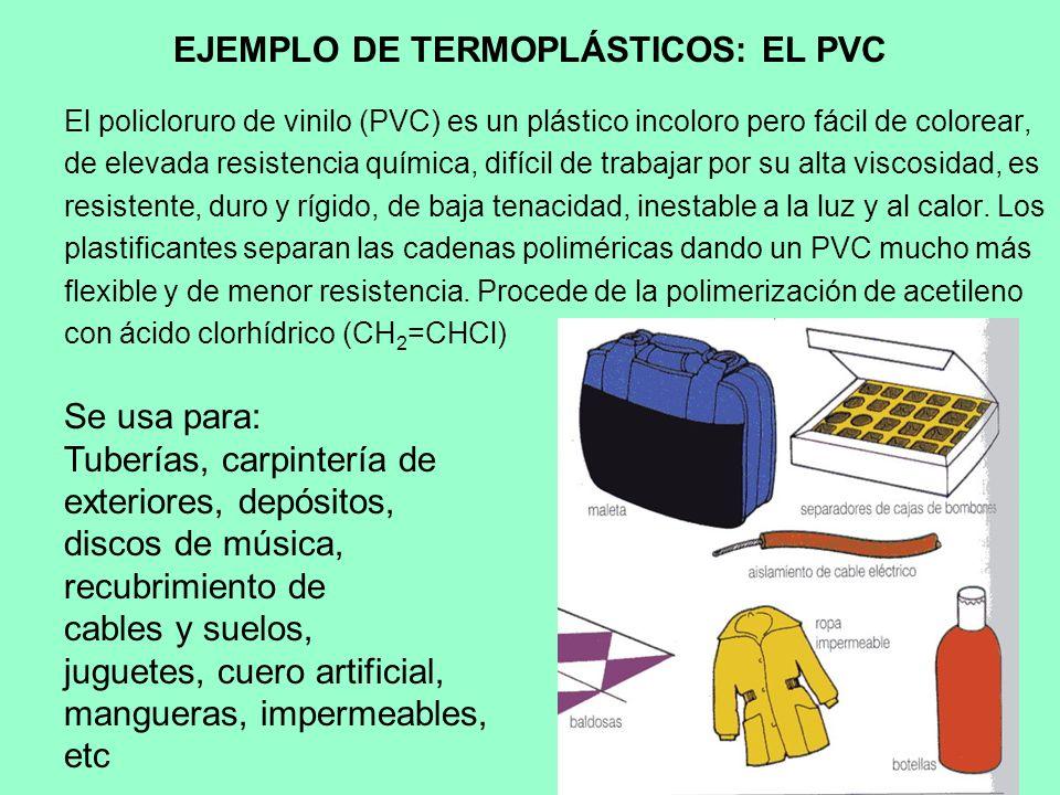 EJEMPLO DE TERMOPLÁSTICOS: EL PVC