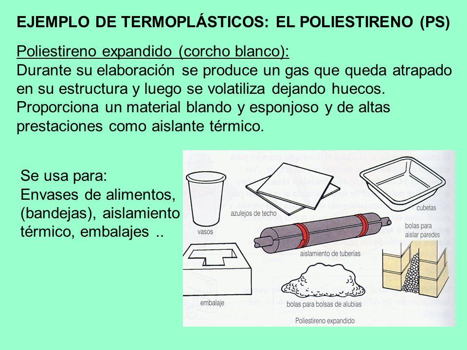 EJEMPLO DE TERMOPLÁSTICOS: EL POLIESTIRENO (PS)