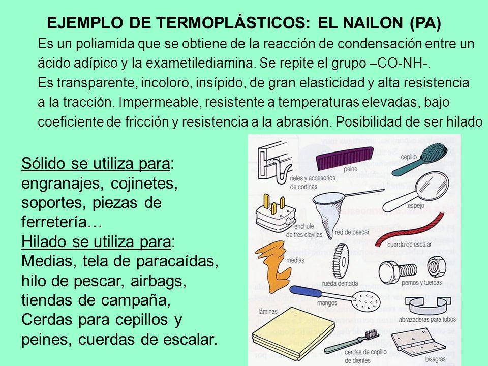 EJEMPLO DE TERMOPLÁSTICOS: EL NAILON (PA)
