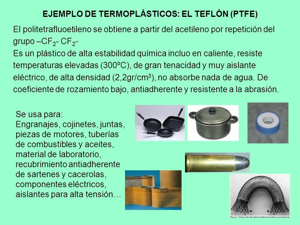 EJEMPLO DE TERMOPLÁSTICOS: EL TEFLÓN (PTFE)