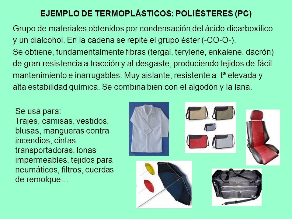 EJEMPLO DE TERMOPLÁSTICOS: POLIÉSTERES (PC)