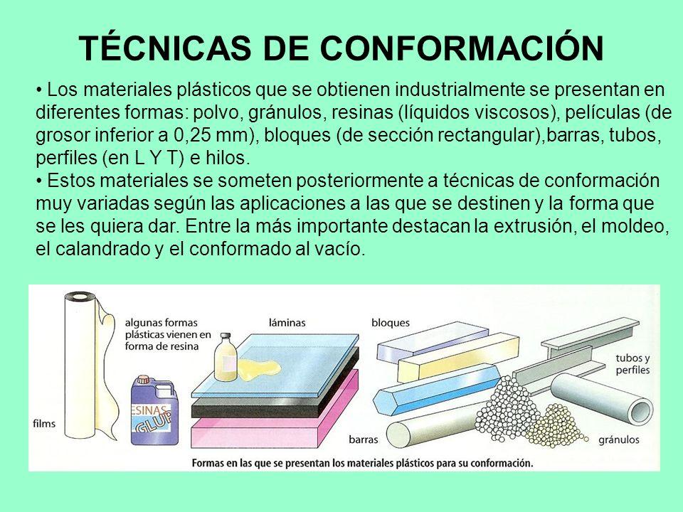 TÉCNICAS DE CONFORMACIÓN