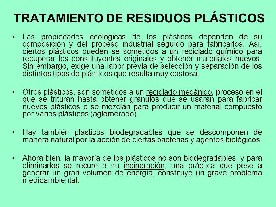 TRATAMIENTO DE RESIDUOS PLÁSTICOS