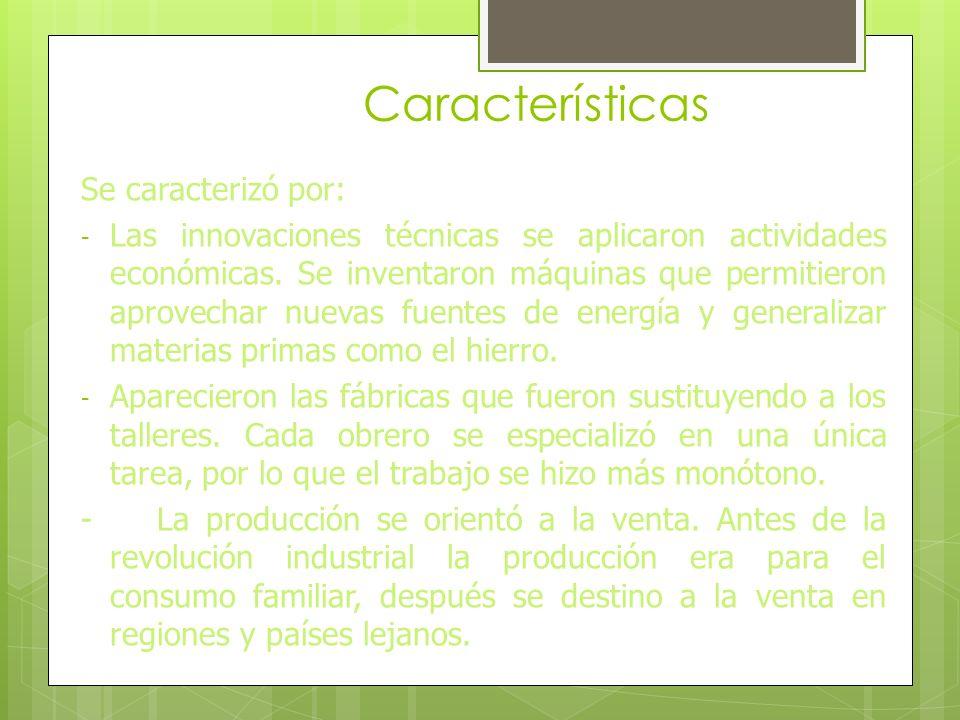 Características Se caracterizó por: