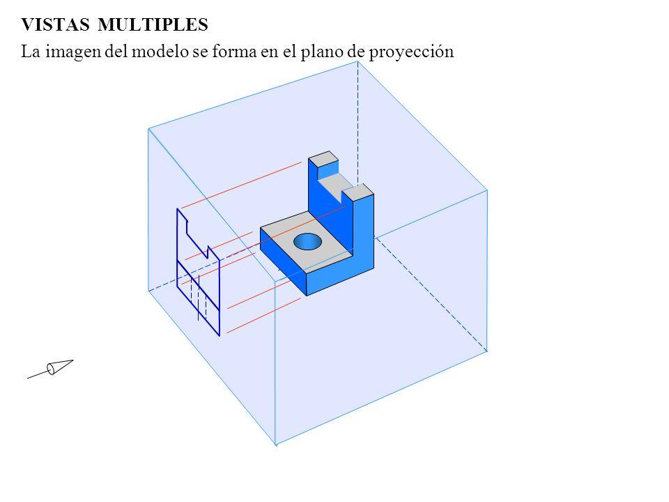 VISTAS MULTIPLES La imagen del modelo se forma en el plano de proyección