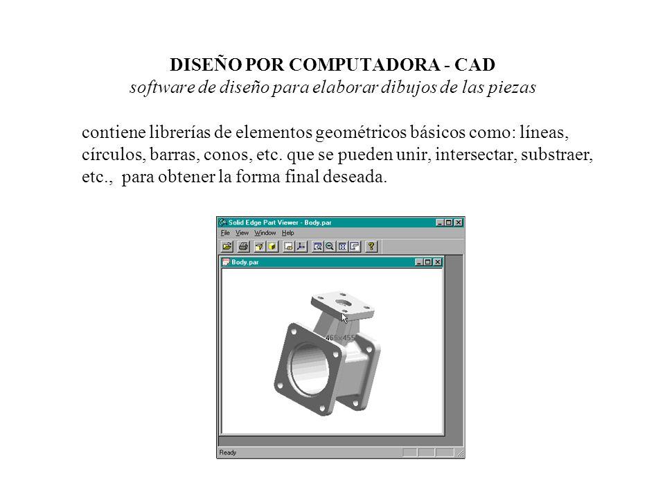 DISEÑO POR COMPUTADORA - CAD software de diseño para elaborar dibujos de las piezas