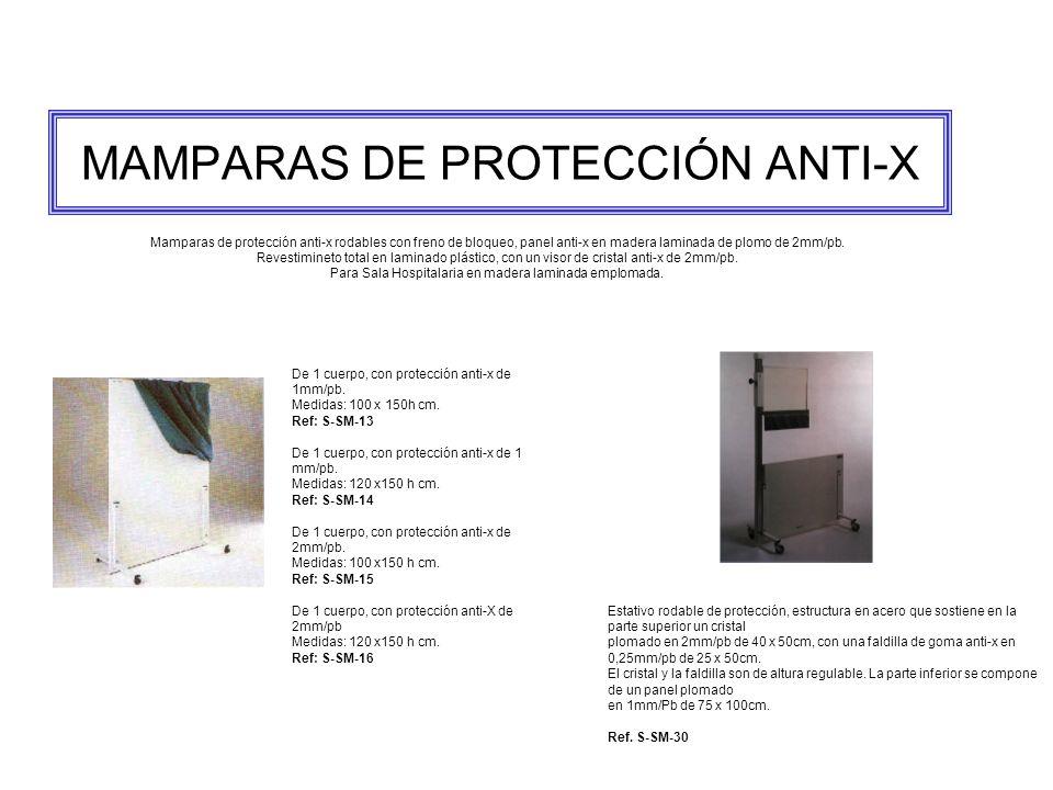 MAMPARAS DE PROTECCIÓN ANTI-X