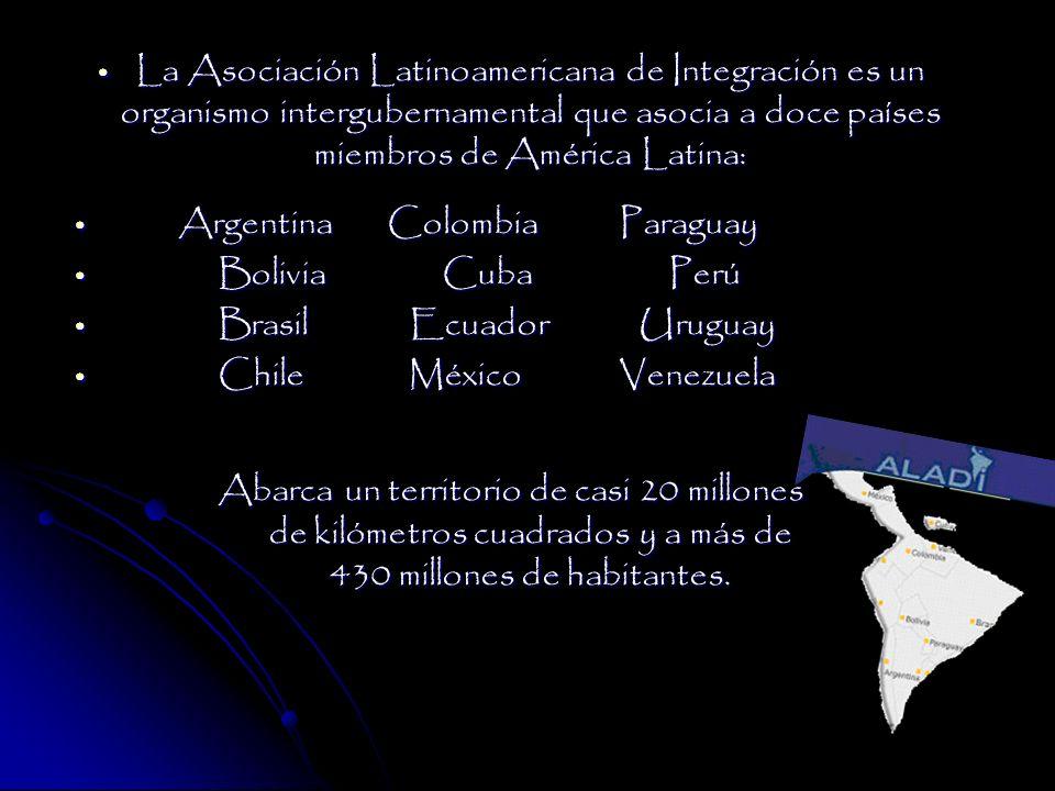 La Asociación Latinoamericana de Integración es un organismo intergubernamental que asocia a doce países miembros de América Latina: