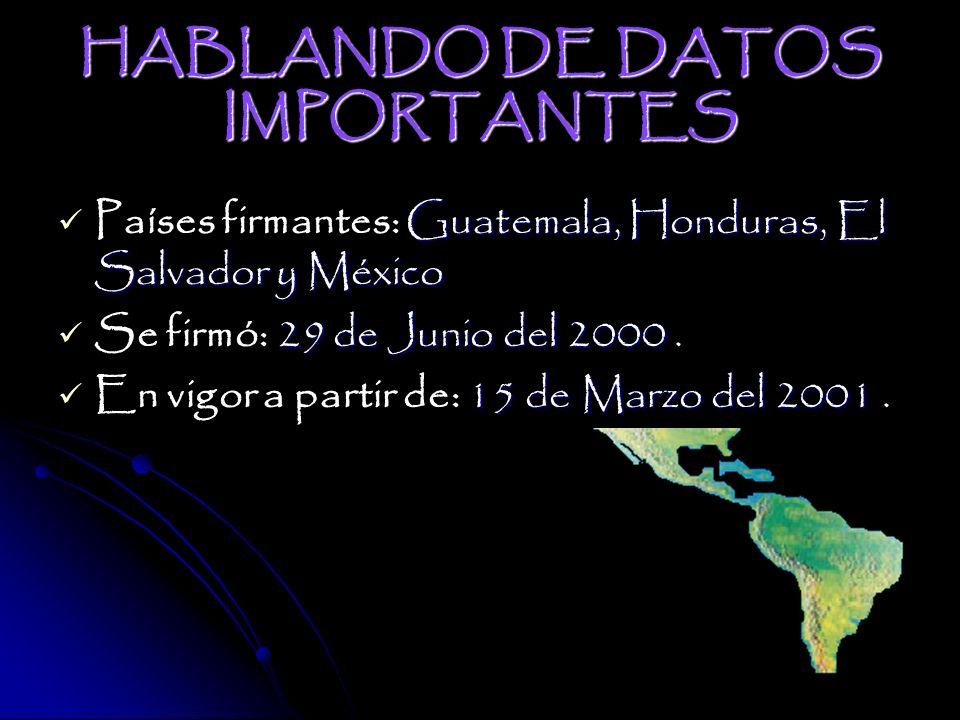 HABLANDO DE DATOS IMPORTANTES