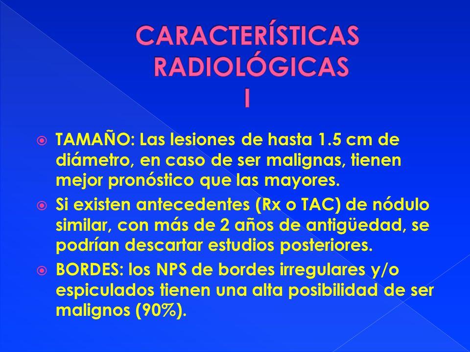 CARACTERÍSTICAS RADIOLÓGICAS I