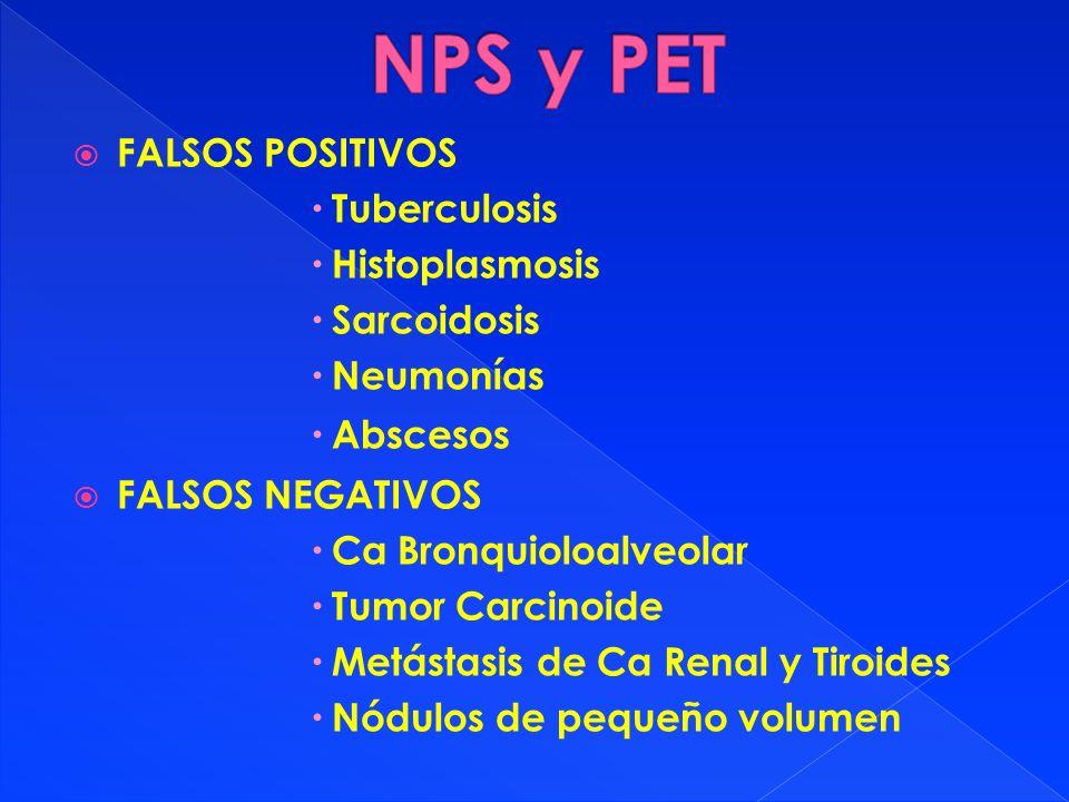 NPS y PET FALSOS POSITIVOS Tuberculosis Histoplasmosis Sarcoidosis