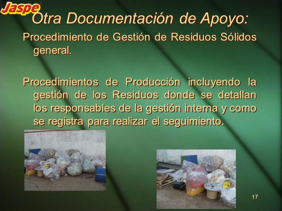 Otra Documentación de Apoyo: